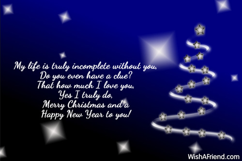 My Life Is Truly Incomplete Without Christmas Message For