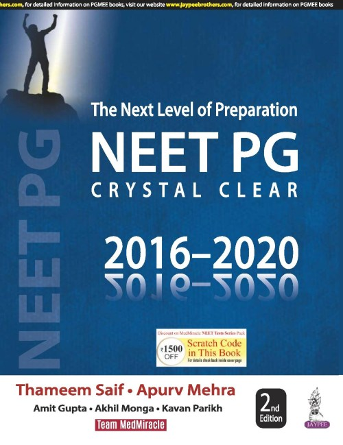 NEET PG Crystal Clear 2nd Edition 2020 by Thameen Saif and Apurv Mehra
