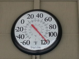 Stovepipe Wells, Death Valley, Temperature at 11 am