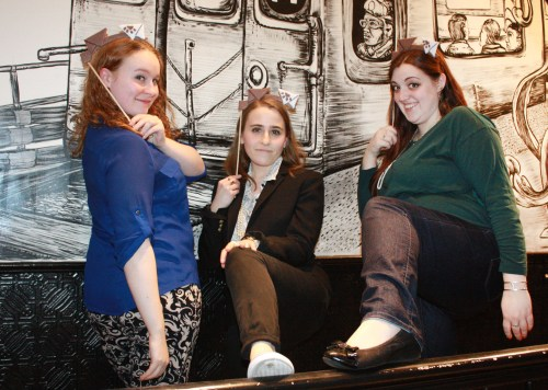 Claire and Erin pose (sillily) with Adriana Tringone for Wishbonafide episode 4