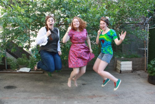 Erin, Claire, and Rory jumping for joy in Wishbonafide Episode 15.