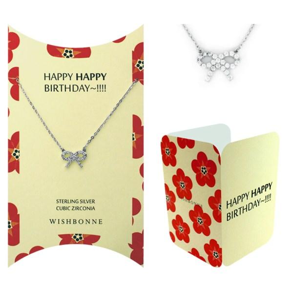 Birthday Ribbon Pendant Necklace