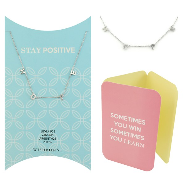 Positivity Pave Stone Necklace