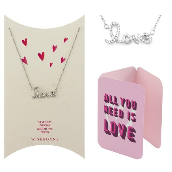 Loved One Love Letter Pendant Necklace