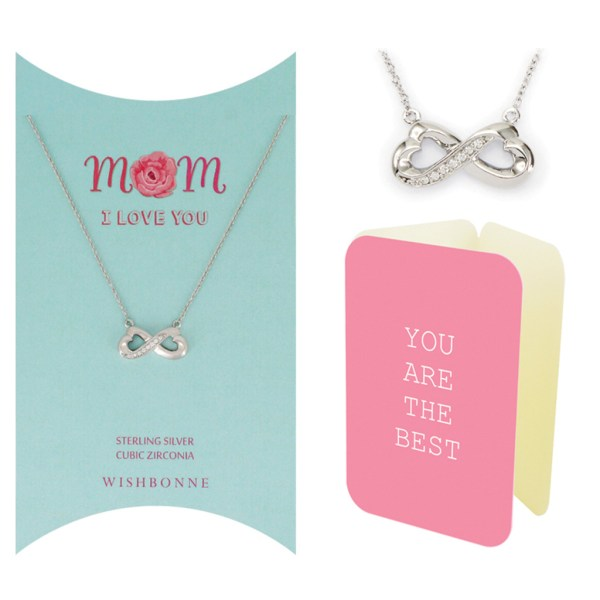 Mom Linked Heart Necklace