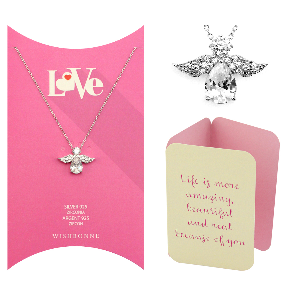 Loved One Angel Pendant Necklace