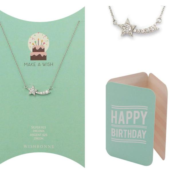 Birthday Shooting Star Pendant Necklace