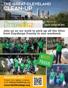 Join The Litterbugz for The Great Cleveland Cleanup