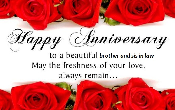 Anniversary Wishes To Brother And Sister In Law