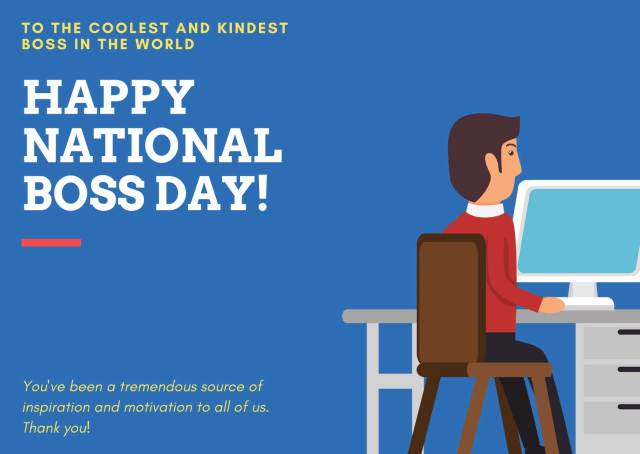 National Boss Day Greetings