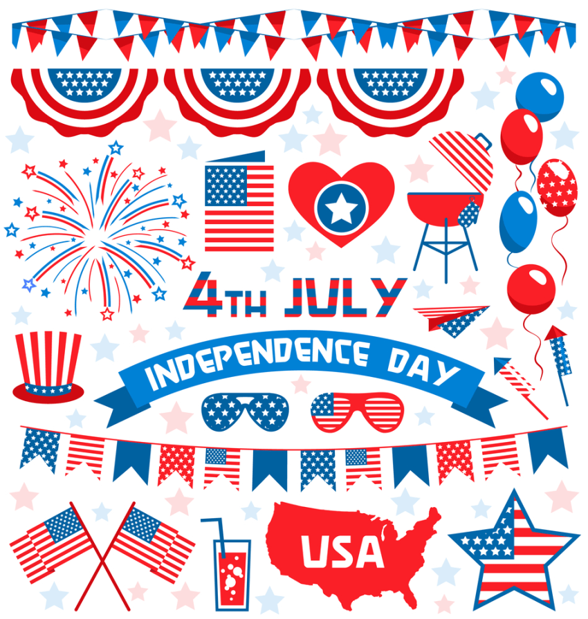 Fourth July Independence Day USA Celebrations