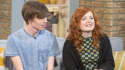 Lucy and her boyfriend Ollie featured on ITV This Morning