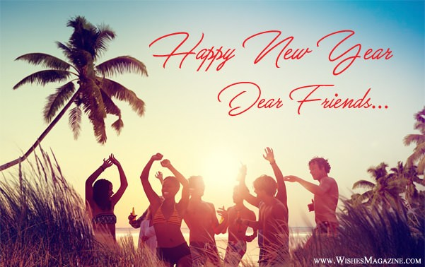 New Year Wishes For Friends | Happy New Year Card Messages For Friends