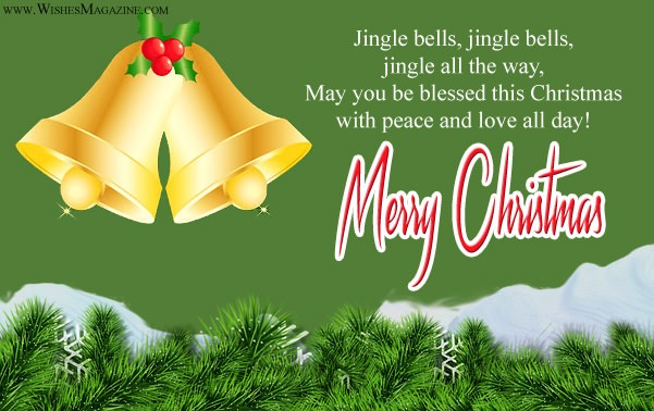 Merry Christmas greeting Cards  Jingle Bells Christmas Card Ideas