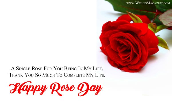 Happy Rose Day Card For Gf Bf With Sms