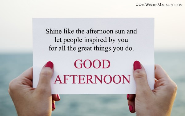 Latest Good Afternoon Wishes Messages