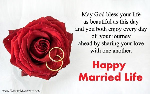 Happy Married Life Wishes | Wish You Happy Married Life Messages
