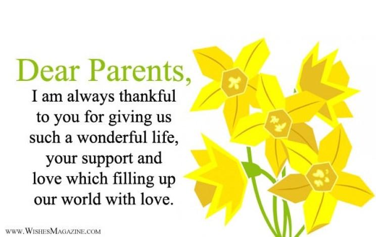 Thank You Message For Parents   Gratitude Message To Parents