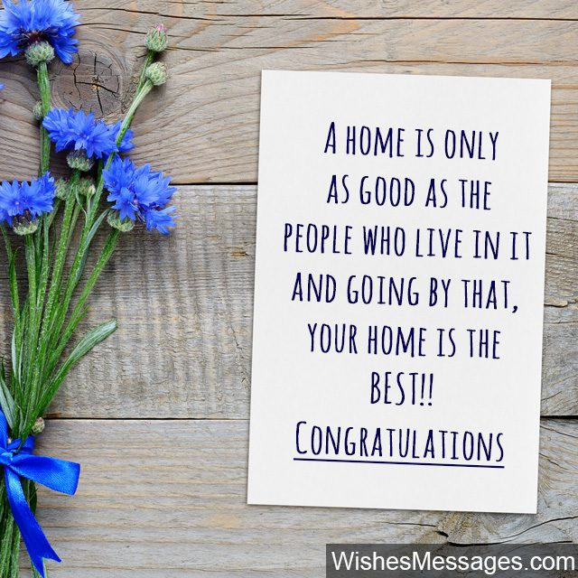 Congratulations Greeting Card Wishes For Ing A New Home