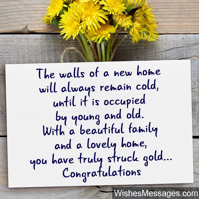 Housewarming Card Short Rhyme Poem For New Home