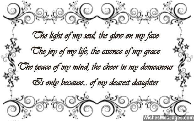 Poems For Daughters Birthday From Mom And Dad Creativepoem