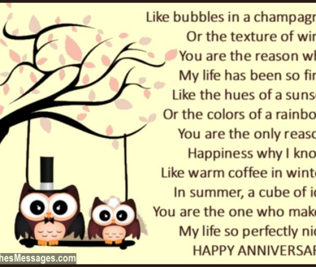 Sweet Anniversary Poem Quote For Wife
