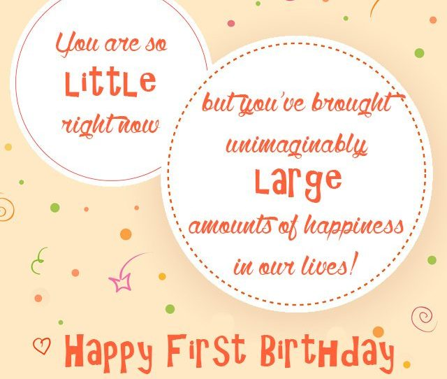 Happy St Birthday First Birthday Greeting Card Little Child Turning One Year Old