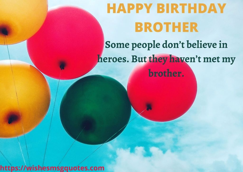 Birthday Messages For Bro