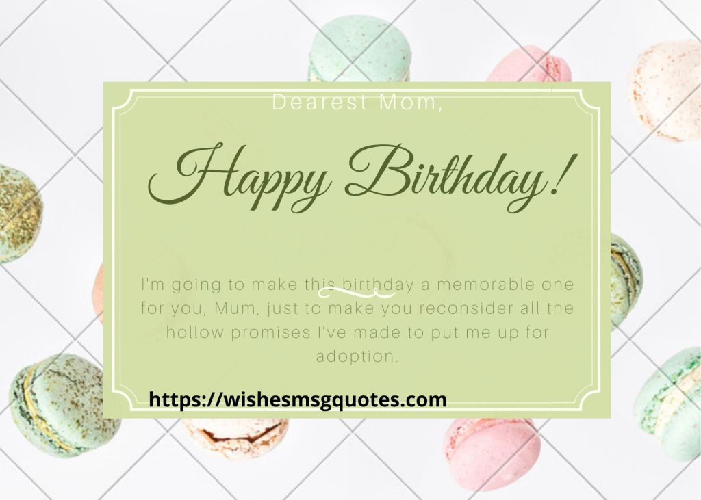 Funny Birthday Quotes For Mother