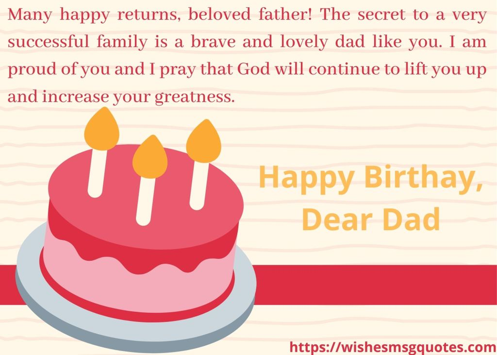 Happy birthday to father from son