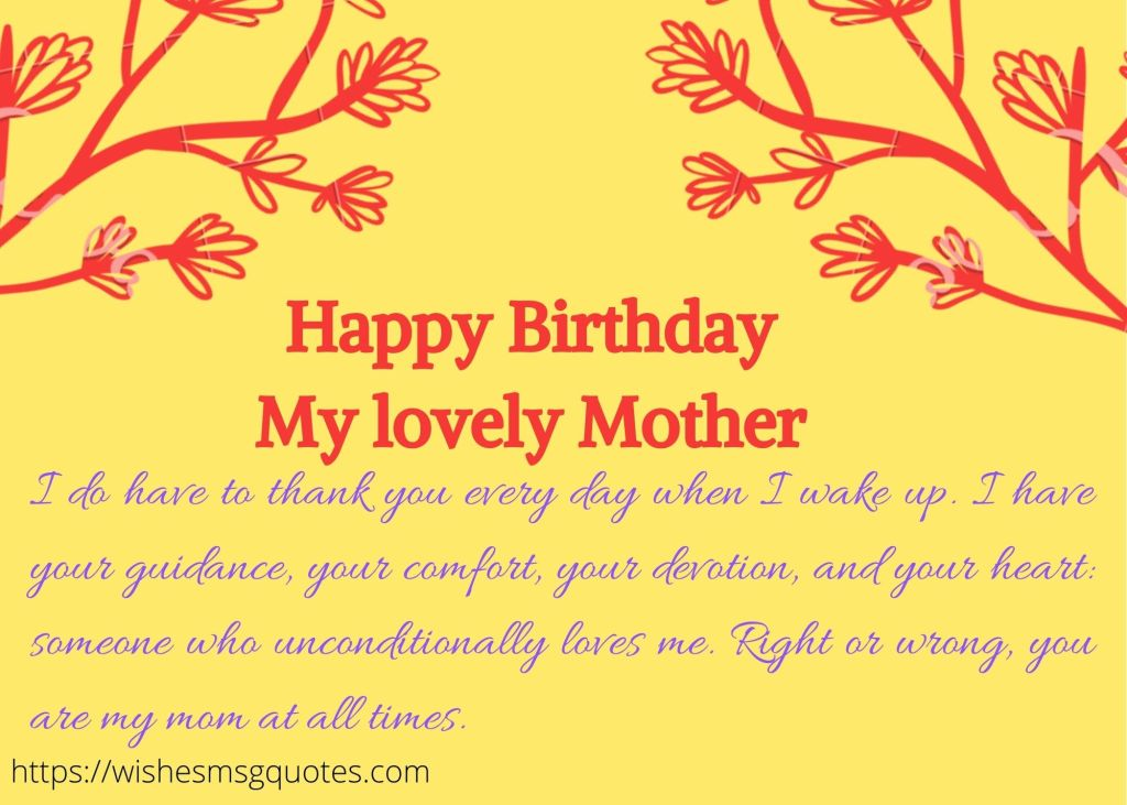 Birthday Quotes For Mother