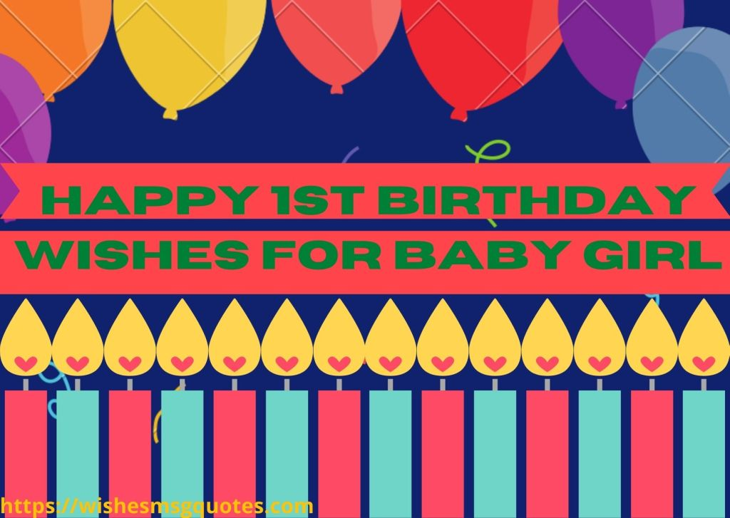 Happy 1st Birthday Wishes For Baby Girl