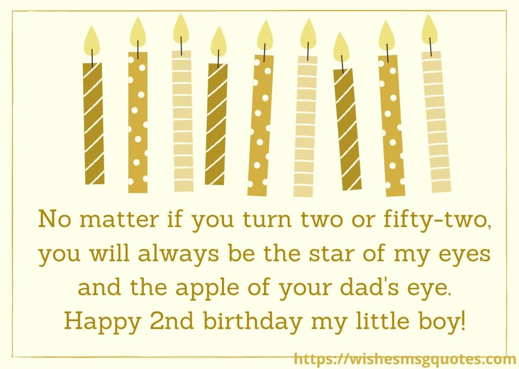 2nd Birthday Messages From Grandfather To Baby Boy