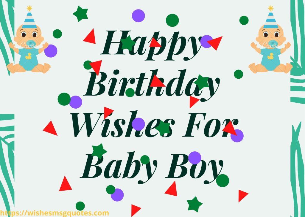 100 Happy Birthday Wishes For Baby Boy | Birthday Wishes For Baby Boy