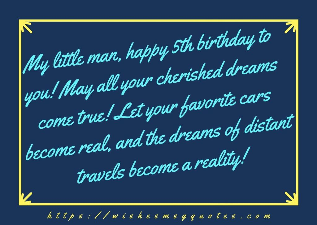 5th Birthday Messages From Mother To Boy