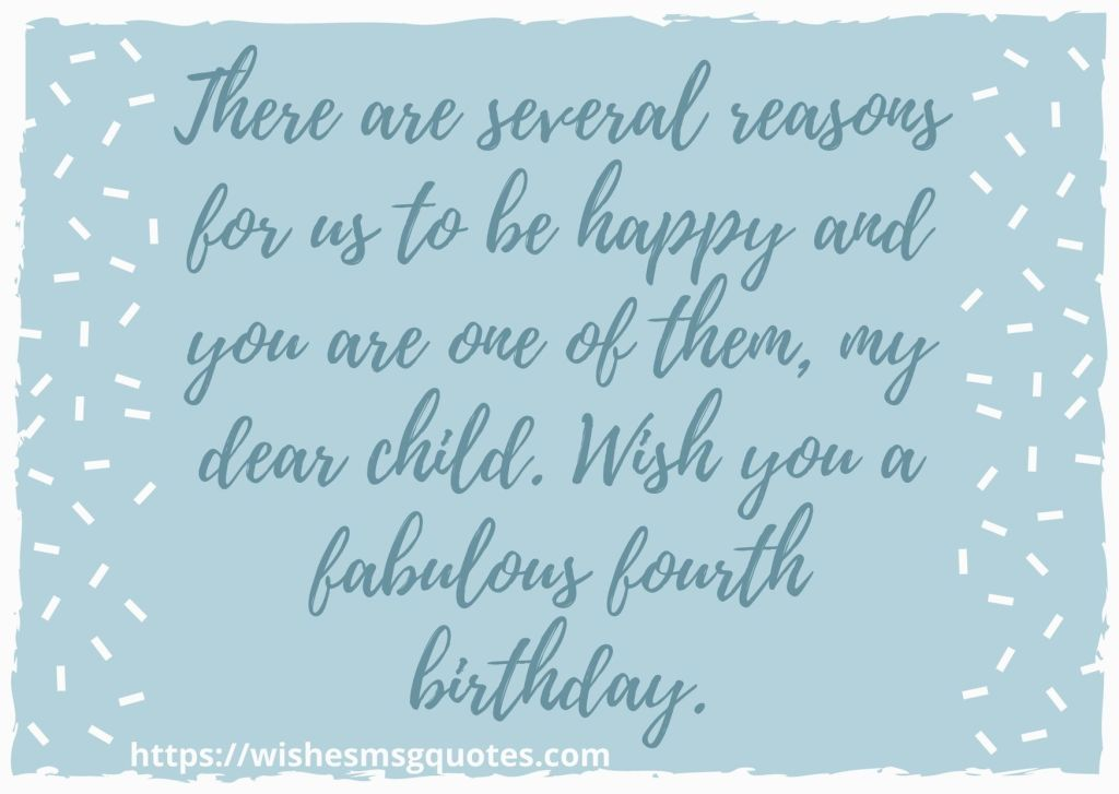 4th Birthday Wishes From Uncle To Baby Boy
