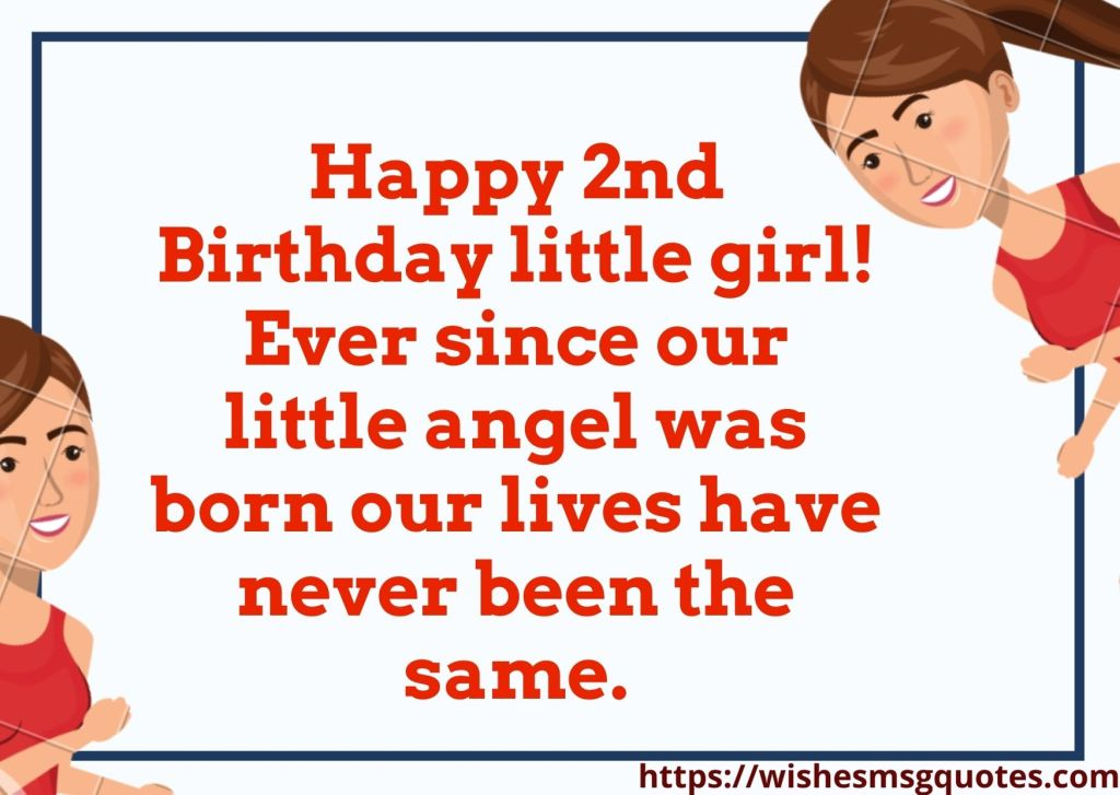 Happy 2nd Birthday Wishes For Baby Girl