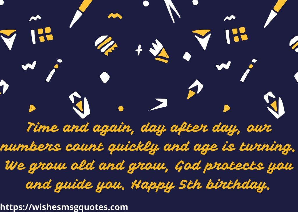 Cutest 5th Birthday Quotes For Boy From Mother
