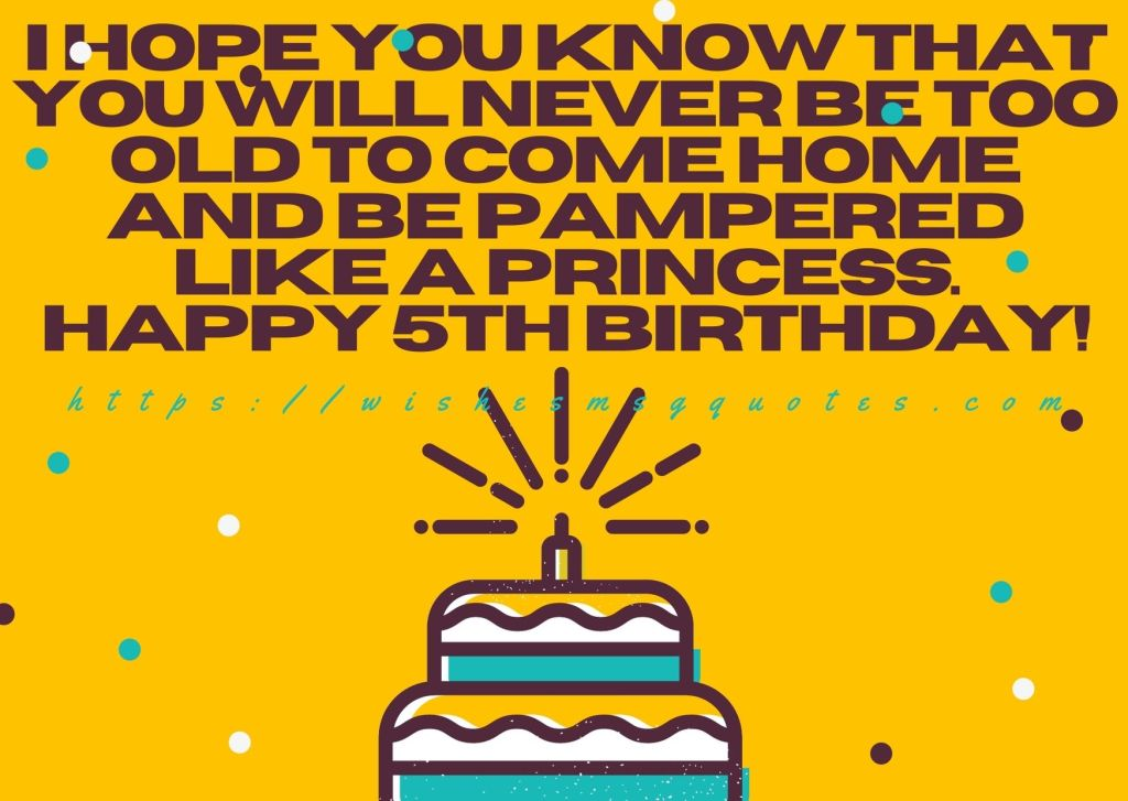 Cutest 5th Birthday Quotes For Girl From Father