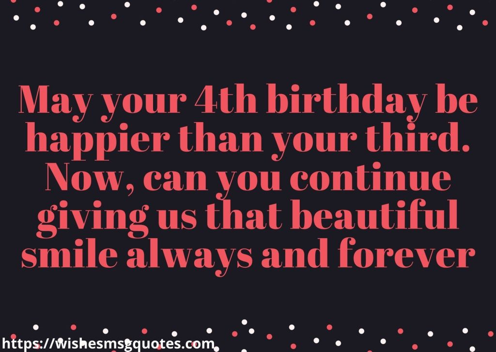 Cutest 4th Birthday Quotes For Baby Boy From Mother