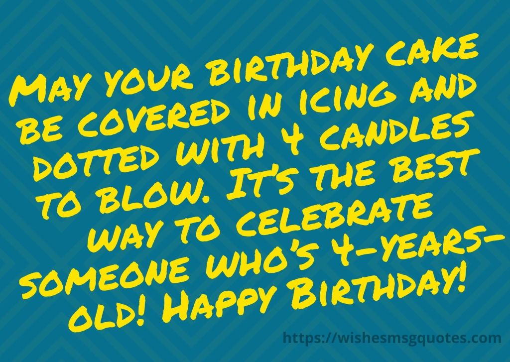 Happy 4th Birthday Messages For Baby Girl