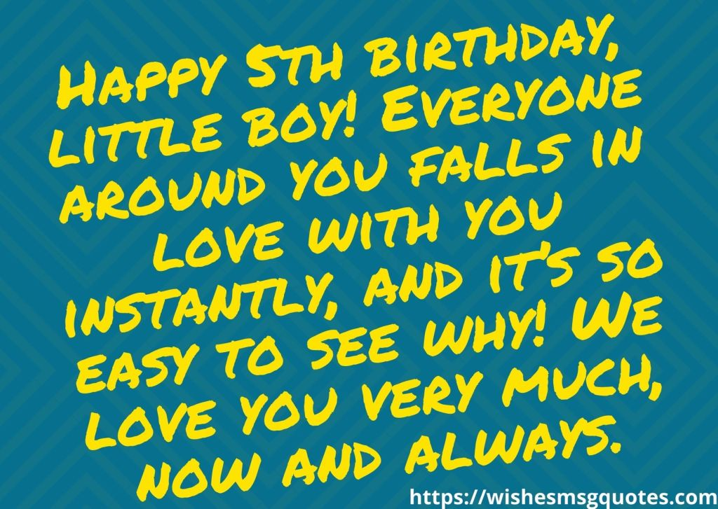 5th Birthday Quotes From Aunt To Boy