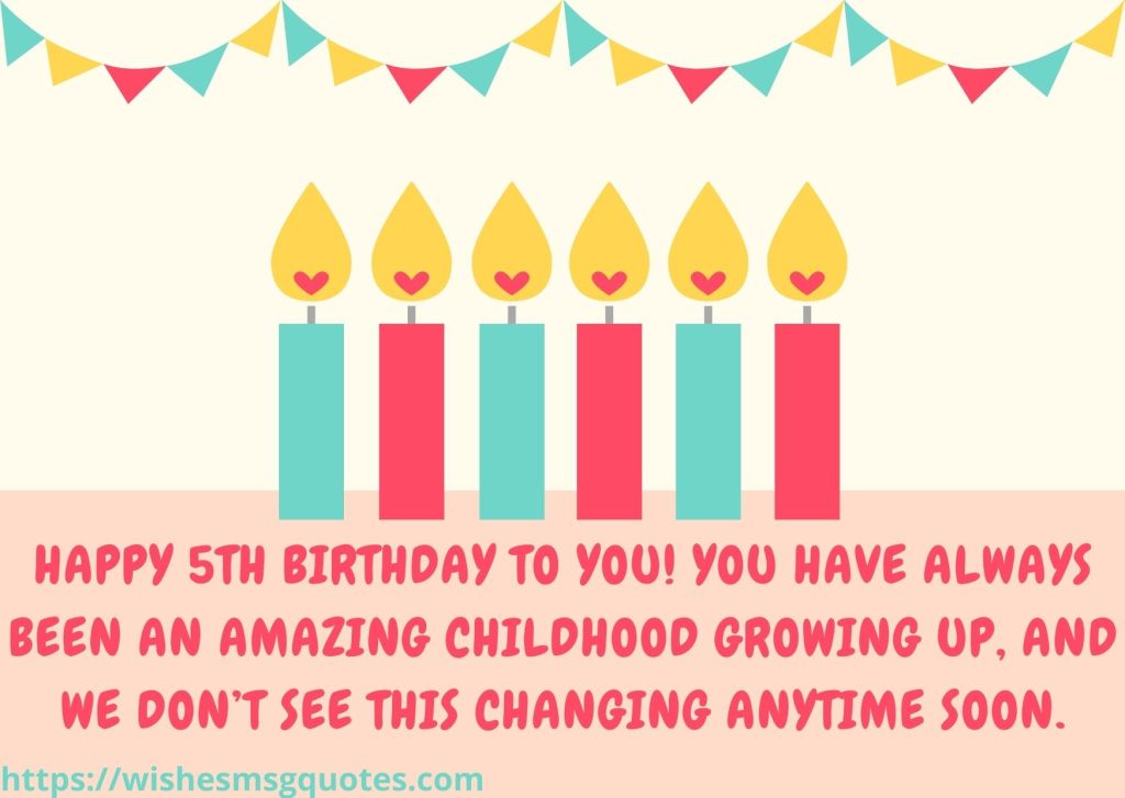 Happy 5th Birthday Messages For Grandson