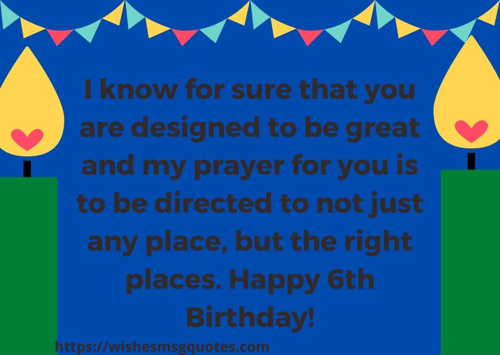 Happy 6th Birthday Wishes For Grandson