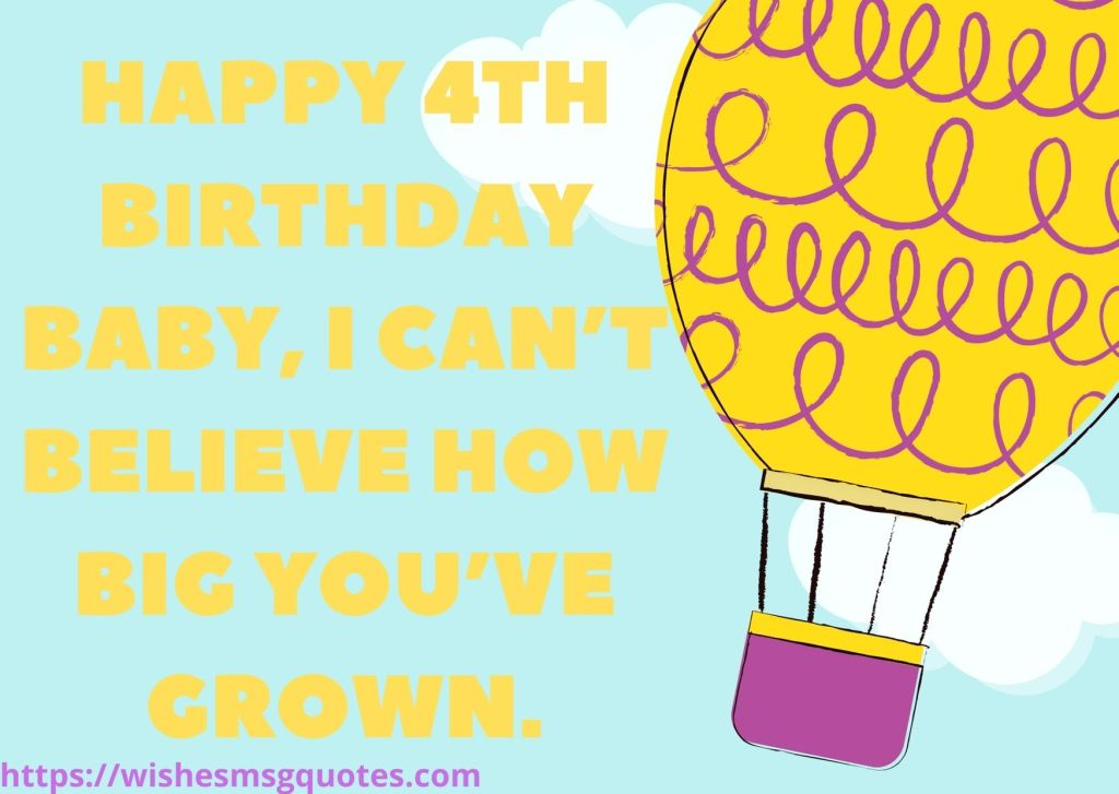 Happy 4th Birthday Quotes For Grandson