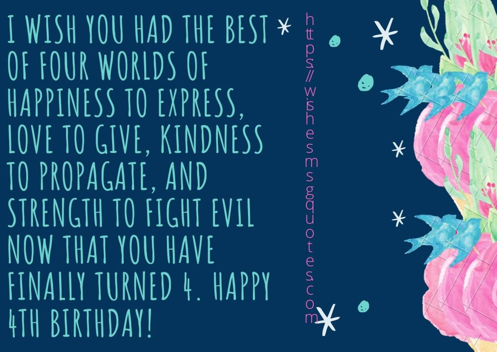Cutest 4th Birthday Quotes For Baby Girl From Father