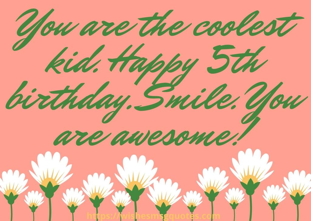 5th Birthday Quotes From Mother To Boy