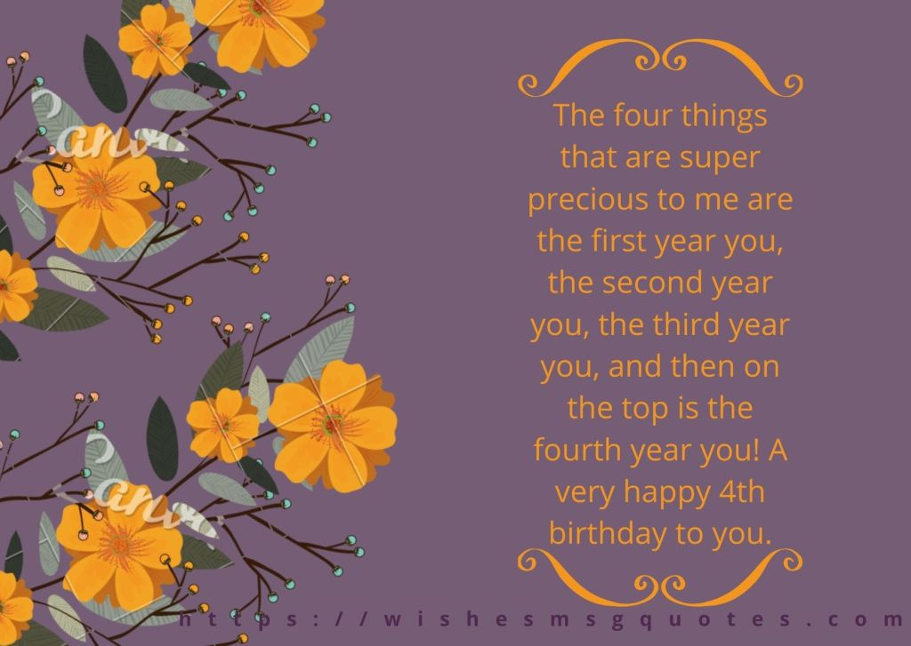 Happy 4th Birthday Quotes For Baby Girl