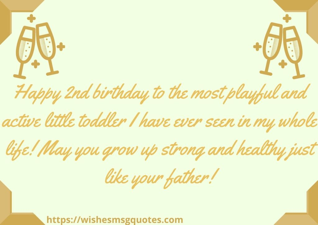 Cutest 2nd Birthday Quotes For Baby Boy From Mother