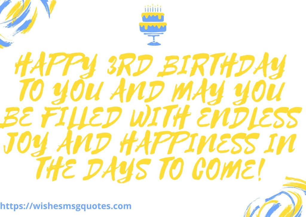 Happy 3rd Birthday Quotes From Parents